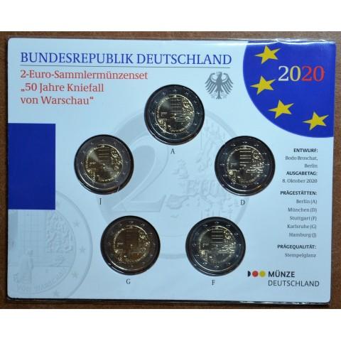 "2 Euro Germany ""ADFGJ"" 2020 - 50 years of the Warschauer Kniefall (BU)"