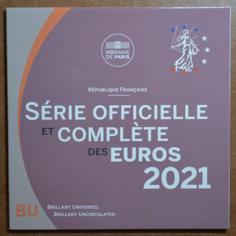 Set of 8 eurocoins France 2021 (BU)