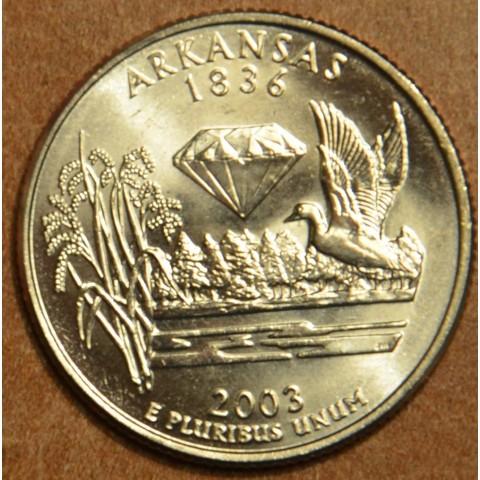 "25 cent USA 2003 Arkansas ""S"" (Proof)"