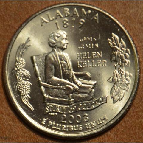 "25 cent USA 2003 Alabama ""S"" (Proof)"