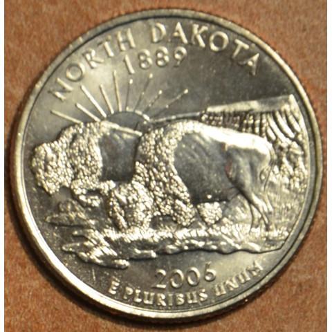"""25 cent USA 2006 North Dakota """"S"""" (Proof)"""