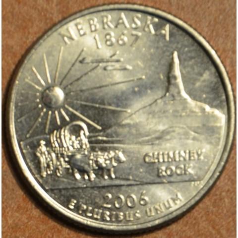 """25 cent USA 2006 Nebraska """"S"""" (Proof)"""