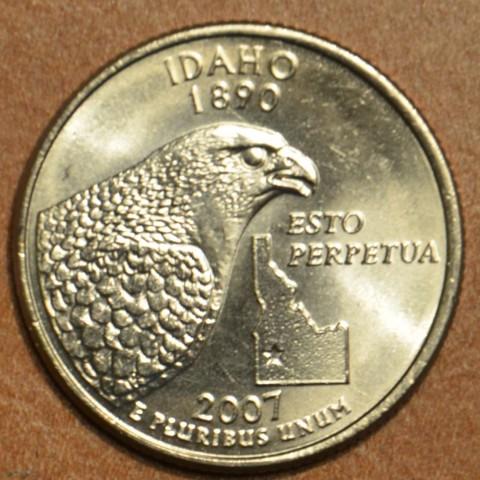 """25 cent USA 2007 Idaho """"S"""" (Proof)"""