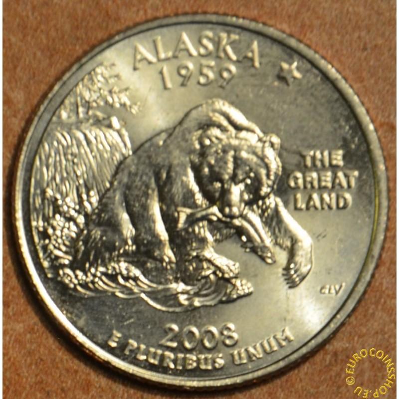 """25 cent USA """"D"""" 2008 Alaska (UNC)"""