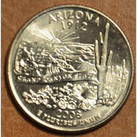 "25 cent USA 2008 Arizona ""S"" (Proof)"