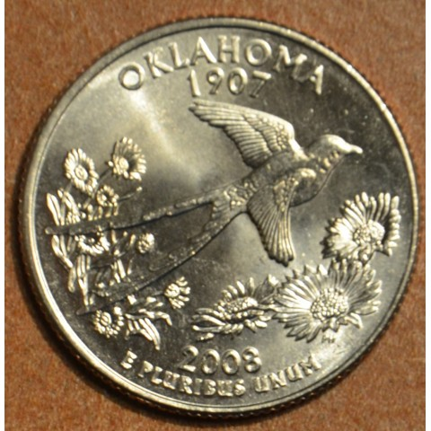 "25 cent USA 2008 Oklahoma ""S"" (Proof)"