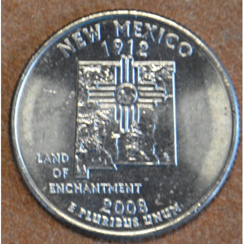 """25 cent USA 2008 New Mexico """"S"""" (Proof)"""