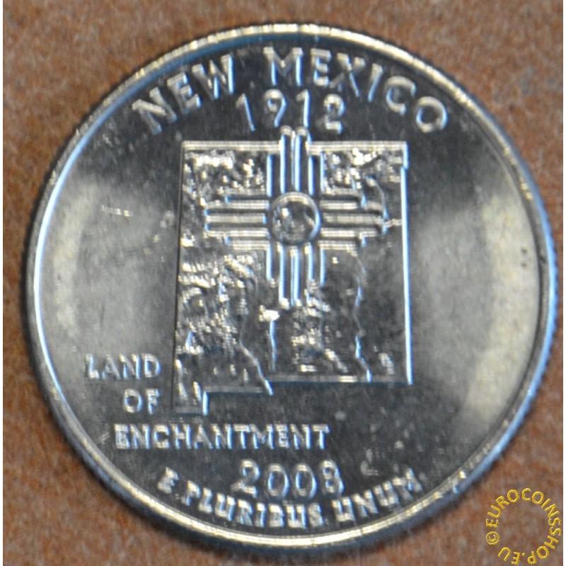 "25 cent USA 2008 New Mexico ""D"" (UNC)"