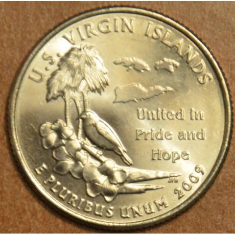 "25 cent USA 2009 US Virgin Islands ""S"" (Proof)"