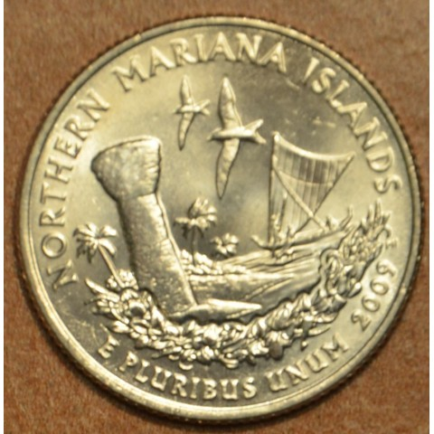 """25 cent USA 2009 Northern Mariana Islands """"S"""" (Proof)"""