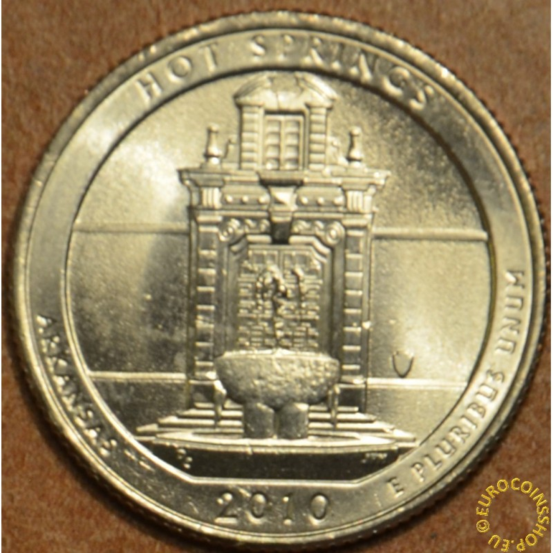 """25 cent USA """"D"""" 2010 Hot Springs (UNC)"""