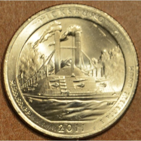 "25 cent USA 2011 Vicksburg ""S"" (Proof)"