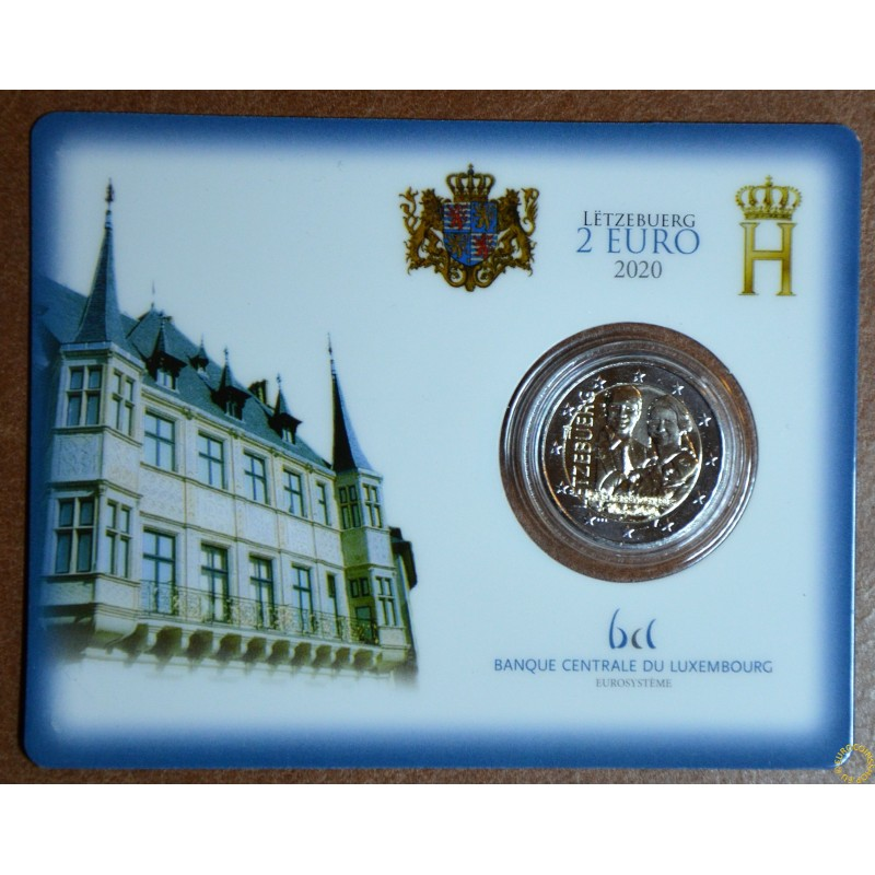 """2 Euro Luxembourg 2020 -  Birth of Prince Charles with mintmark """"lion"""" (BU card)"""