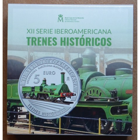 5 Euro Spain 2020 - Historic trains (Proof)
