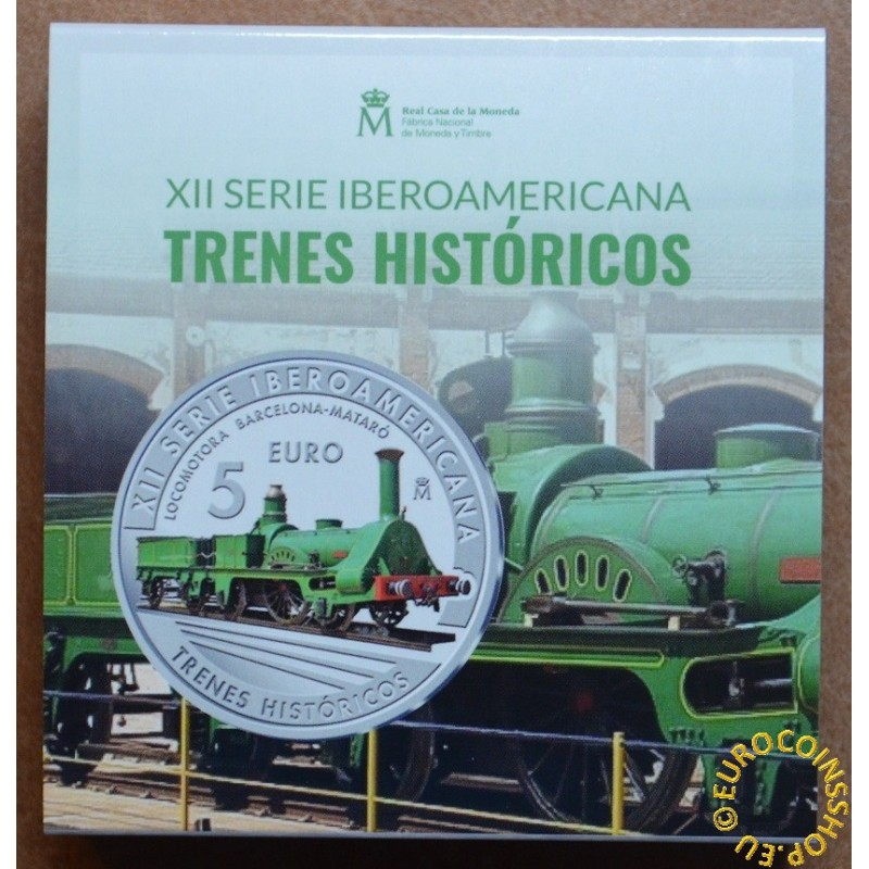 5 Euro Spain 2020 - Historic trains (Proof)