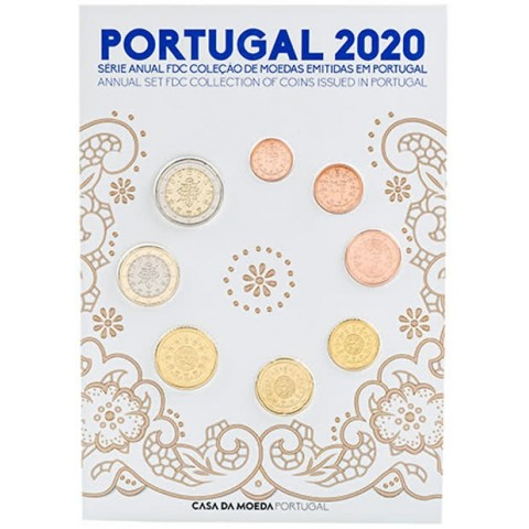 Set of 8 coins Portugal 2020 (UNC)