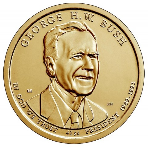 "1 dollar USA 2020 George H.W. Bush ""P"" (UNC)"