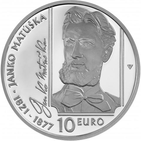 10 Euro Slovakia 2021 - Janko Matúška (Proof)