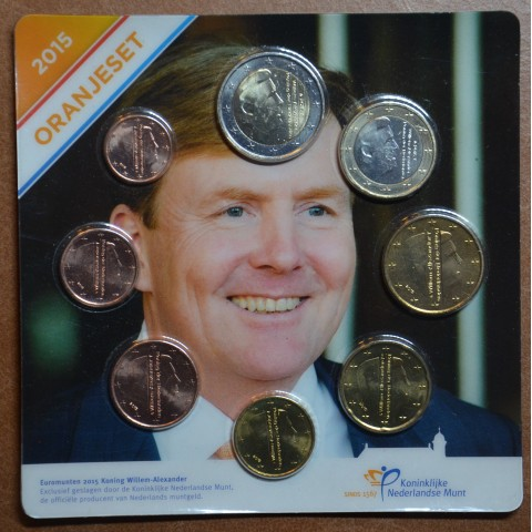Netherlands 2015 set of 8 coins Willem-Alexander (UNC)