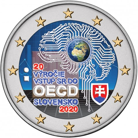 2 Euro Slovakia 2020 - Accession to the OECD II. (colored UNC)
