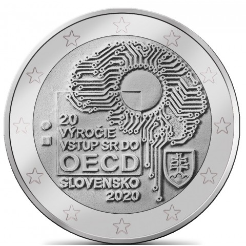2 Euro Slovakia 2020 - Accession to the OECD (silver plated UNC)