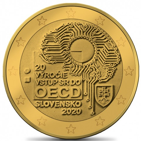 2 Euro Slovakia 2020 - Accession to the OECD (gold plated UNC)