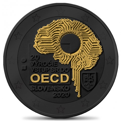 2 Euro Slovakia 2020 - Accession to the OECD (ruthenium-gold plated)