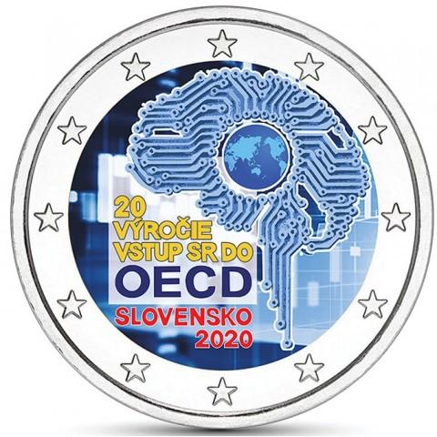 2 Euro Slovakia 2020 - Accession to the OECD (colored UNC)