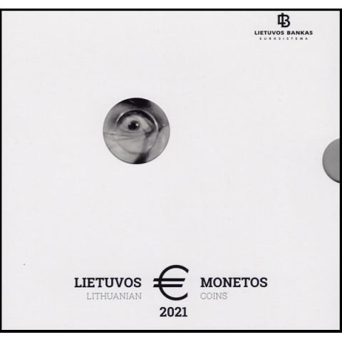Lithuania 2021 set of 8 coins (BU)