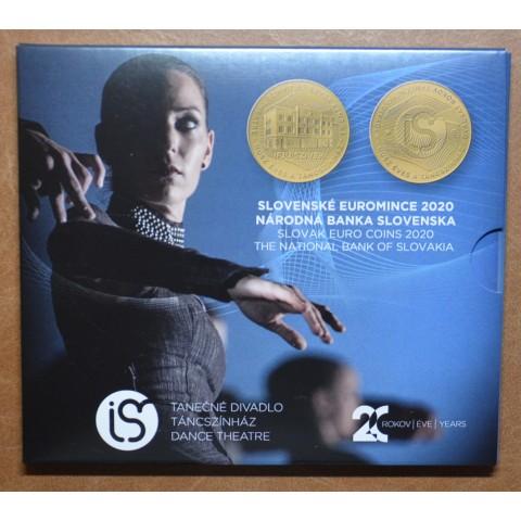 Slovakia 2020 set of coins - Dance theatre Ifjú Szívek (BU)