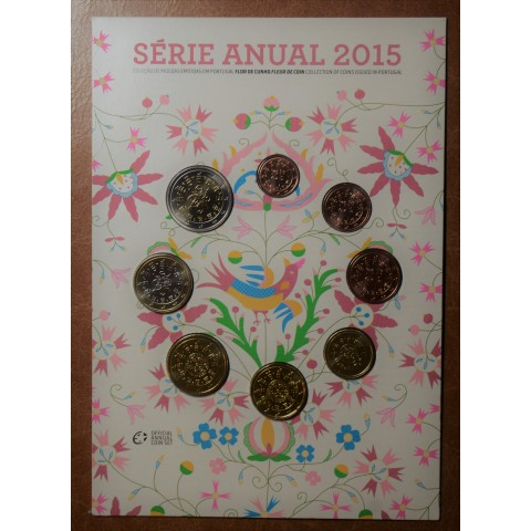 Set of 8 coins Portugal 2015 (UNC)