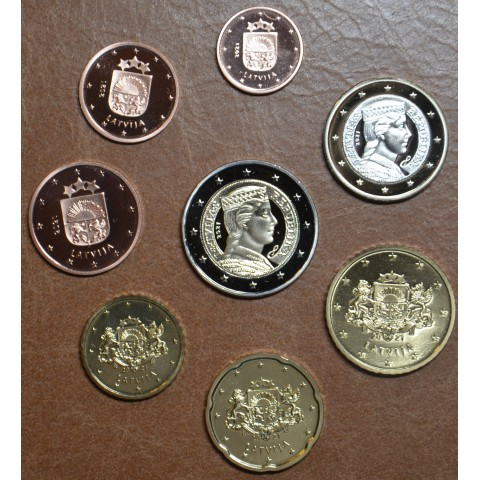 Latvia 2021 set of 8 eurocoins (UNC)