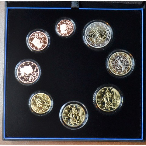 Set of 8 eurocoins France 2021 (Proof)