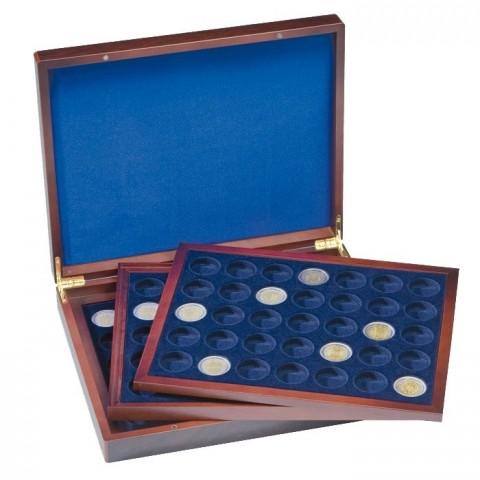 Wooden box Leuchtturm Volterra for 105 2 Euro coins