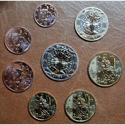 Set of 8 eurocoins France 2021 (UNC)