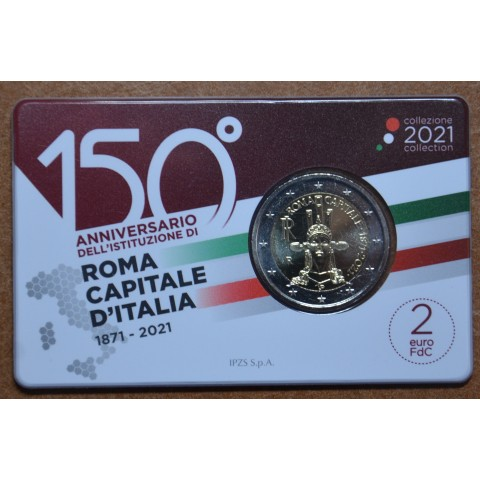 2 Euro Italy 2021 - Roma capital city (BU)