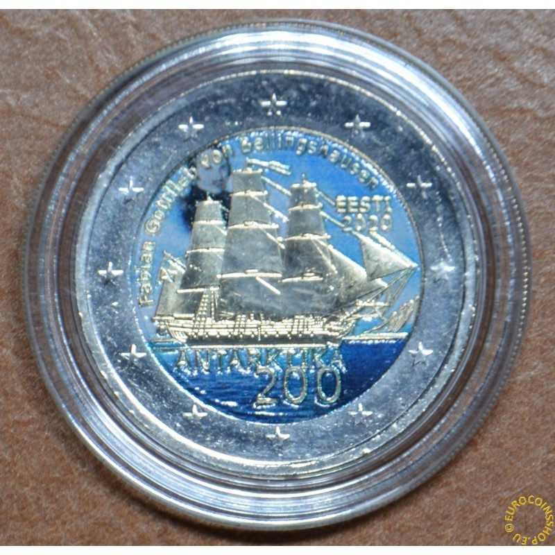 2 Euro Estonia 2020 - Discovery of the Antarctic II. (colored UNC)