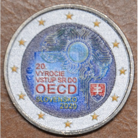 2 Euro Slovakia 2020 - Accession to the OECD IV. (colored UNC)