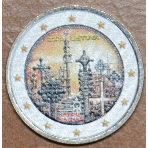 2 Euro Lithuania 2020 - Hill of Crosses II. (colored UNC)