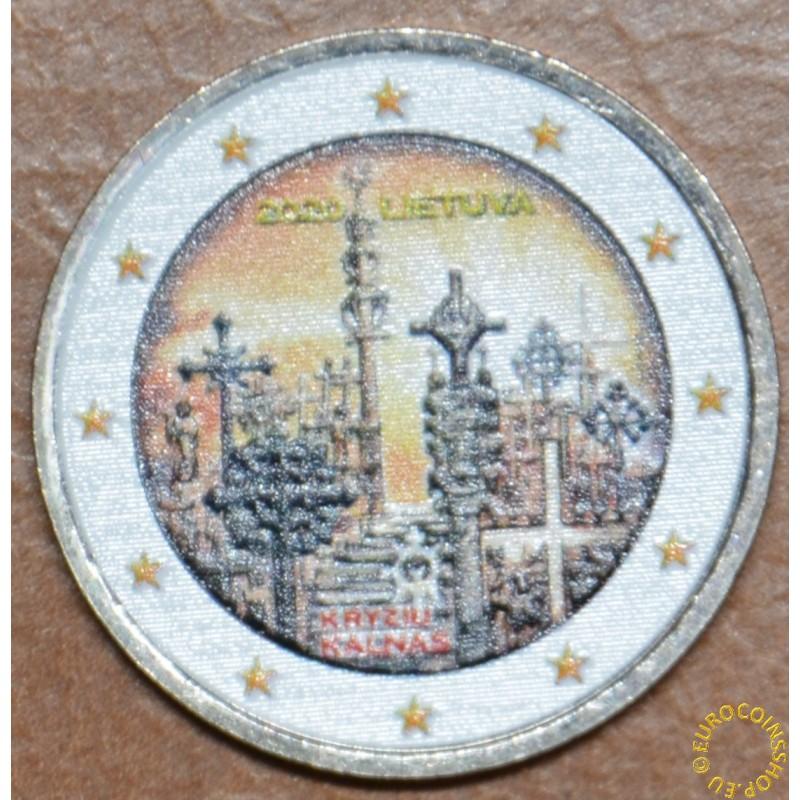 2 Euro Lithuania 2020 - Hill of Crosses II. (colored UNC)