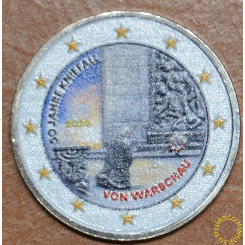 2 Euro Germany 2020 - 50 years of the Warschauer Kniefall II. (colored UNC)