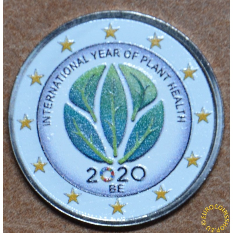 2 Euro Belgium 2020 -  International Year of Plant Health III. (colored UNC)