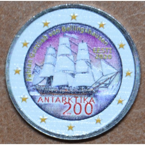 2 Euro Estonia 2020 - Discovery of the Antarctic III. (colored UNC)