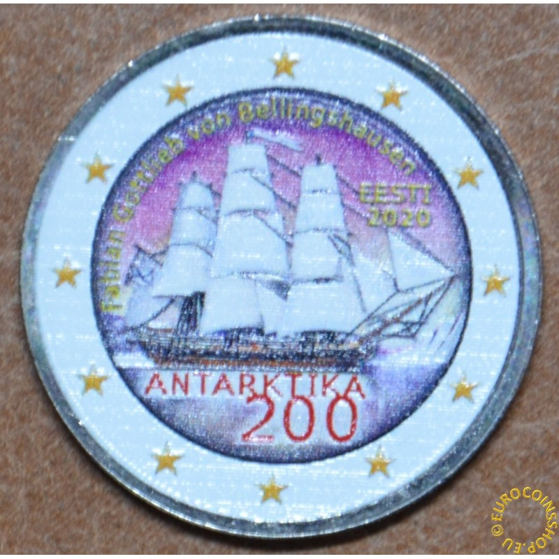 2 Euro Estonia 2020 - Discovery of the Antarctic III. (colored UNC)