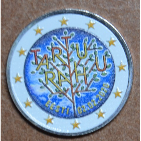 2 Euro Estonia 2020 - Tartu Peace Treaty IV. (colored UNC)