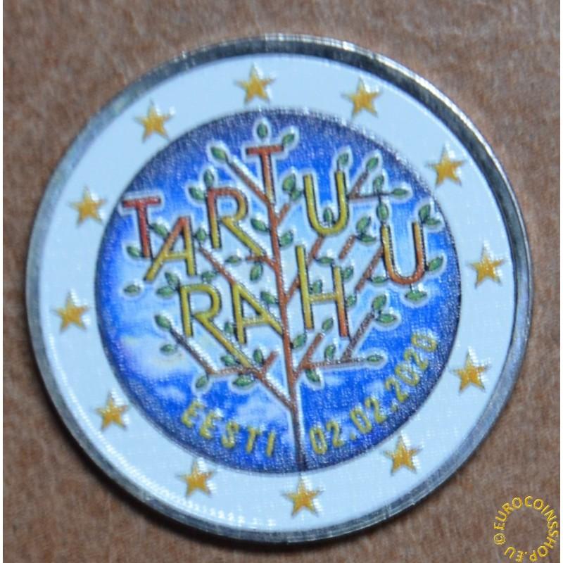 2 Euro Estonia 2020 - Tartu Peace Treaty IV. (colored UNC)
