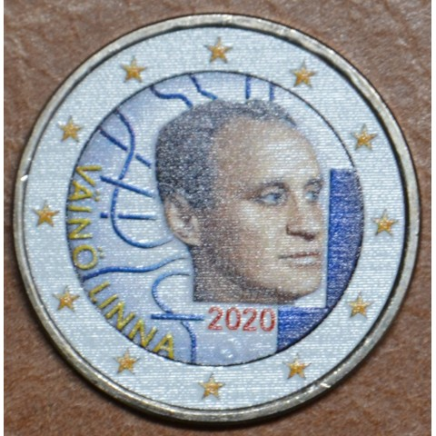 2 Euro Finland 2020 - Väinö Linna III. (colored UNC)