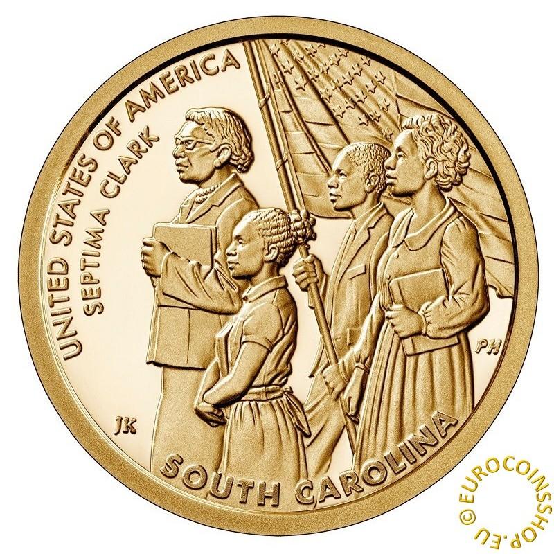 "1 dollar USA 2020 American Innovation - South Carolina ""D"" (UNC)"