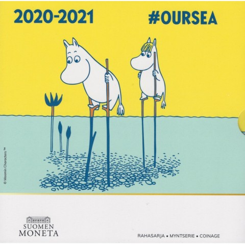 Finland 2020 set of 8 coins Moomins - OURSEA (BU)