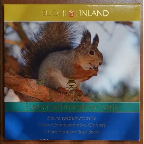 Set of 7 commemorative eurocoins Finland 2004-2009 (UNC)